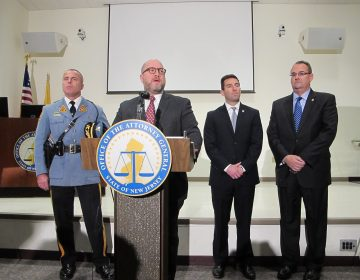 New Jersey Attorney General Christopher Porrino announces the arrests of 79 suspects in child pornography investigation. (Phil Gregory/WHYY)