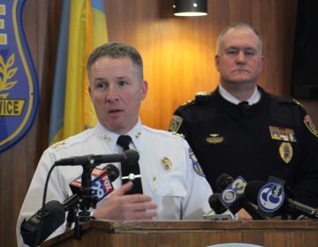 Deputy police Commissioner for special operations Dennis Wilson and SEPTA Police Commissioner Thomas Nestel.