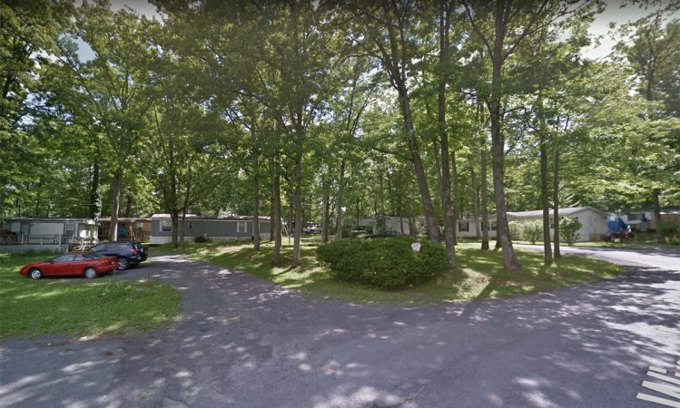 A view of the mobile homes at the former Penn State mobile home park in State College, Pennsylvania. (Image by Google street view from June 2012)