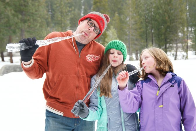 Author creating memorable moments with his daughters.