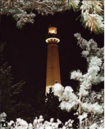 Barnegat Lighthouse framed by frosted branches! (Photo courtesy of njspots via JSHN)