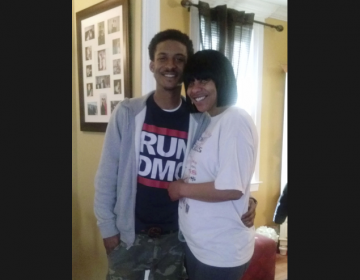 In this undated photo provided by Trina Singleton, her and her eldest son, Darryl, pose for a photo at their at their home in Collingdale. Darryl was one of three people killed in separate shootings on Sept. 13, 2016. (Courtesy of the Singleton Family via AP)
