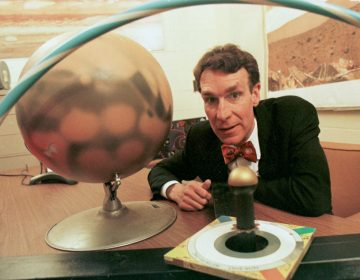 Bill Nye in his television show,