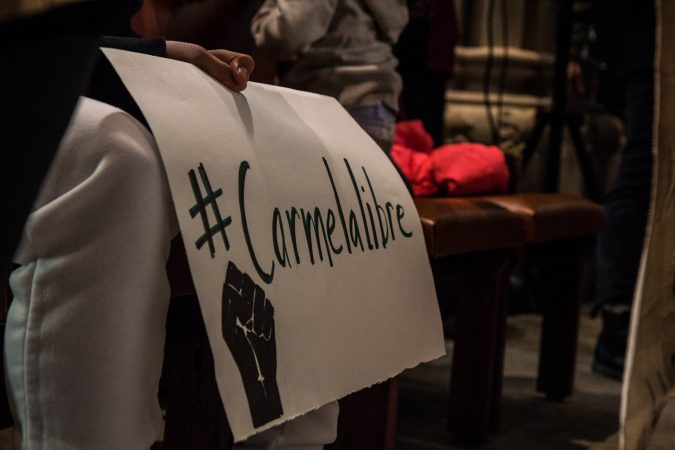Carmella and her family ask for support on social media. (Kimberly Paynter/WHYY)