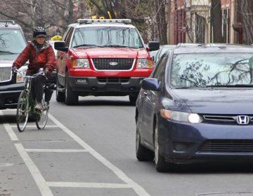 Cars regularly stop in Philadelphia's bike lanes that aren't