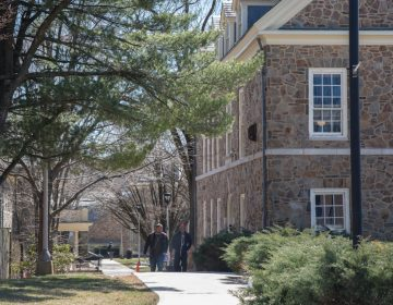 Students walk on the campus of Cheyney University