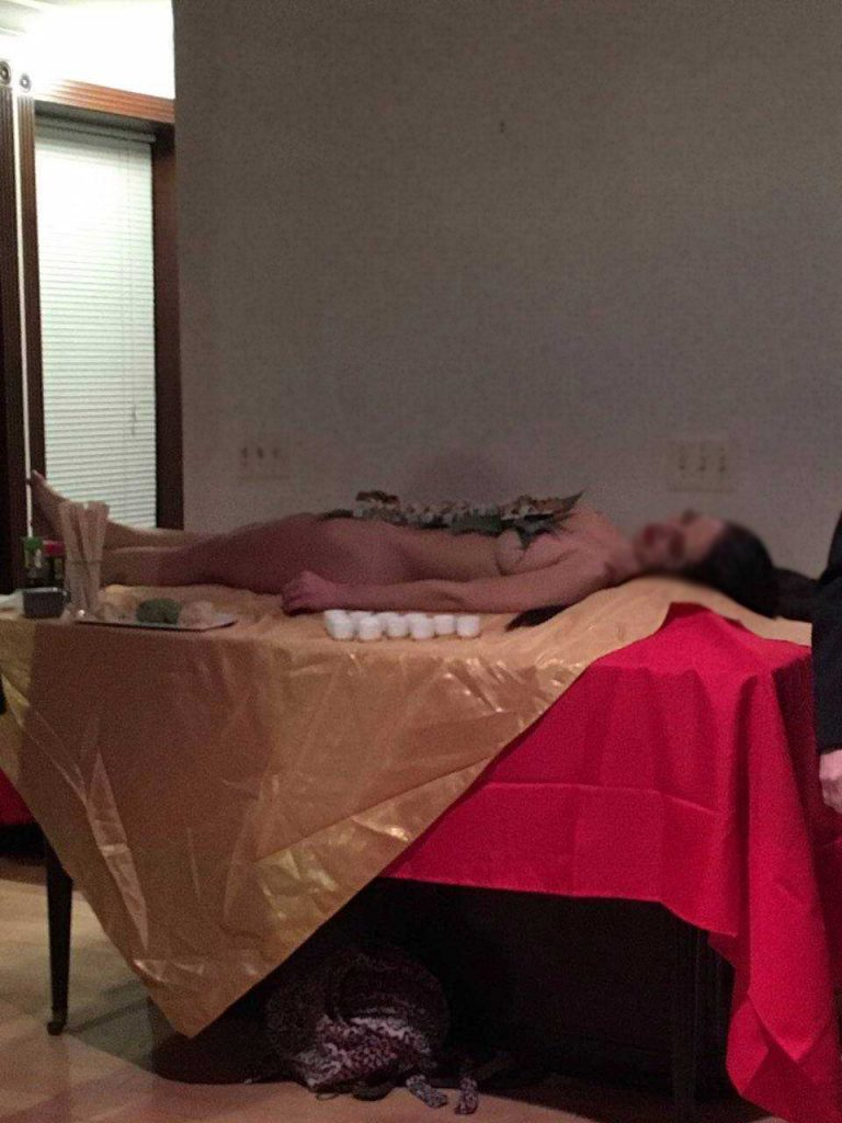 Former state Sen. Vince Fumo's holiday party featured sushi served on the body of a naked woman