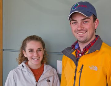 Rutgers University seniors Taylor Dodge and Steven Weber are headed to Antarctica. (Kimberly Paynter/WHYY)
