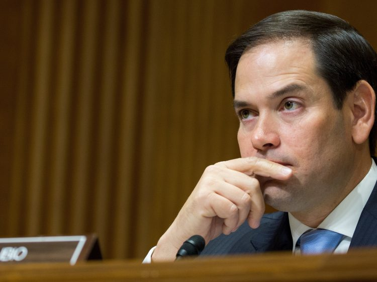 Florida Republican Sen. Marco Rubio, shown in July, had threatened a