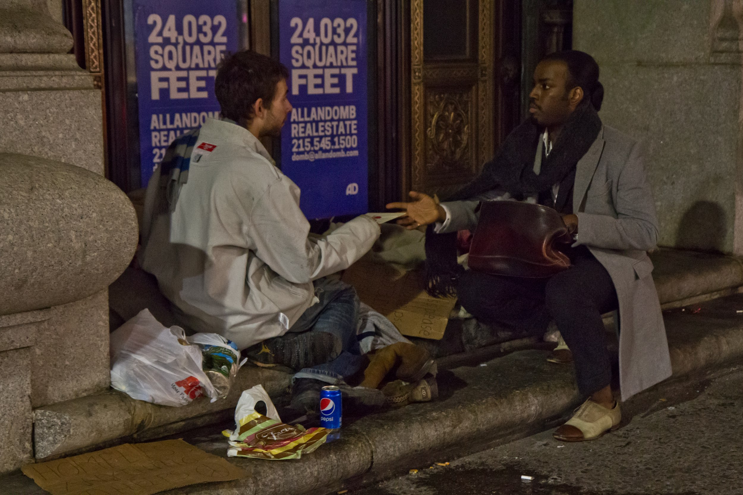 David Alexander Jenkins has given Christmas cards to people living on the street in Philadelphia for the past 10 years.