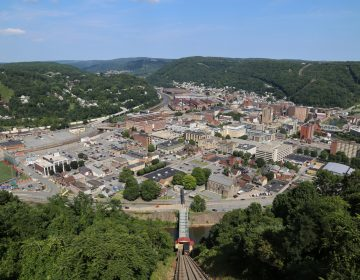 Johnstown is a city of 19,000 residents situated at the confluence of two rivers and surrounded by hills. (Margaret J. Krauss/WESA)