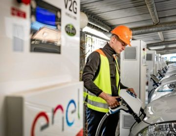 Nuvve Corporation operates the worlds first fully commercial Vehicle-to-Grid hub in Denmark. (photo courtesy Nuvve)