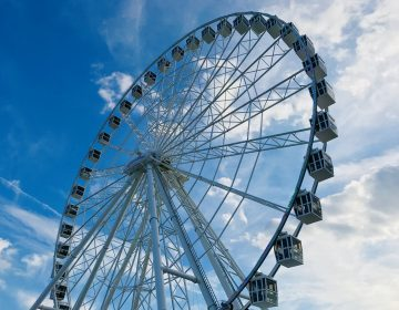The view from the bottom of the new Ferris wheel.  (Steel Pier)