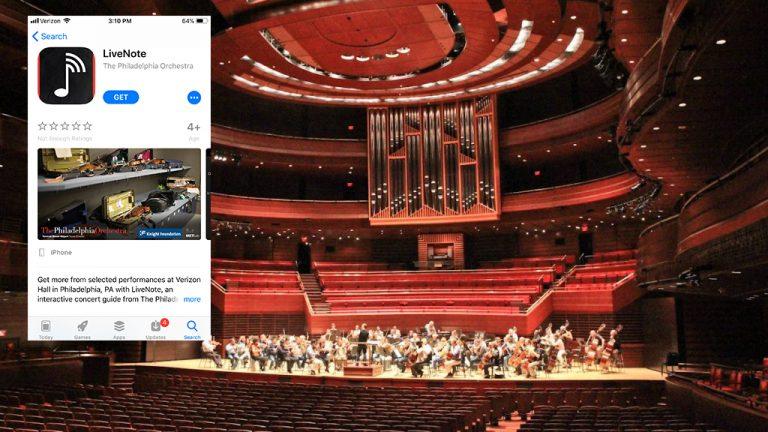 The Philadelphia Orchestra's LiveNote app