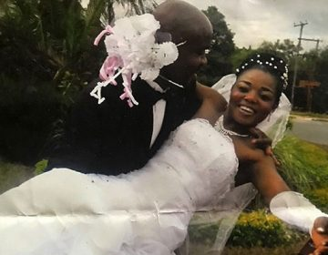 Twendele and Lukoji pose for a wedding photo in May 2015. (Photo courtesy of  Lisette Lukoji)