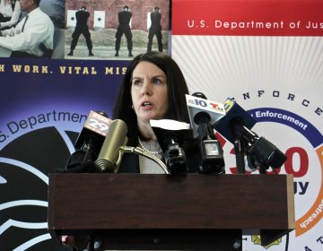 Special Agent in Charge Valerie Nickerson of the New Jersey Division of the Drug Enforcement Agency, announces the implementation of the 360 Strategy for Southern New Jersey to help combat the opioid epidemic.