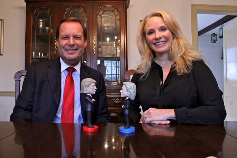 Tom Ellis, a Republican and avid Trump supporter, and his wife, Gretchen Wisehart, a liberal Democratic lawyer, have found ways to keep the peace even in these divisive times.