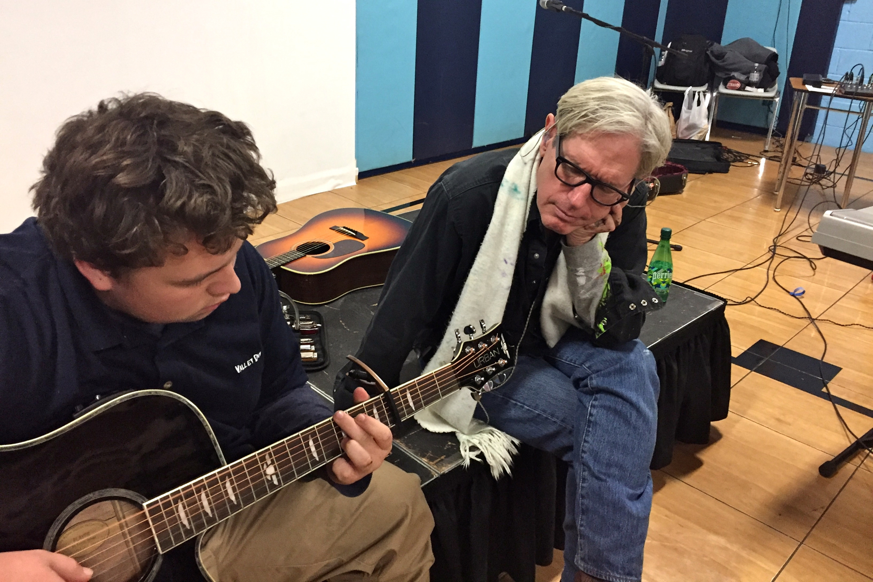 Is todd simpsons musical talent a gift or does science explain it singersongwriter sam baker right sits with 16 year old andrew malvernweather Images