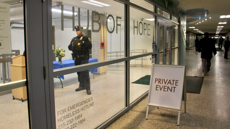 The Hub of Hope is located in the Center City subway concourse near the Municipal Services Building. (Emma Lee/WHYY)