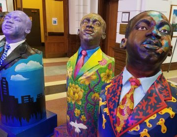 Students at the Philadelphia High School for the Creative and Perfoming arts designed sculptures that will be installed throughout the city for Martin Luther King Day.