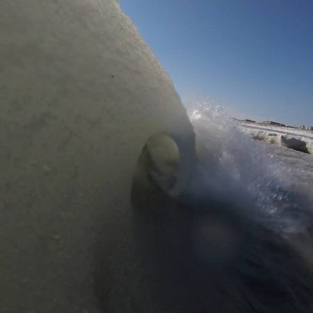 Long Beach Island slushy ocean on Tuesday. (Photo courtesy of Chris Huch)