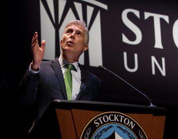 Supreme Court Justice Neil Gorsuch speaks Tuesday at Stockton University in Galloway, New Jersey. (Susan Allen/ Stockton University)