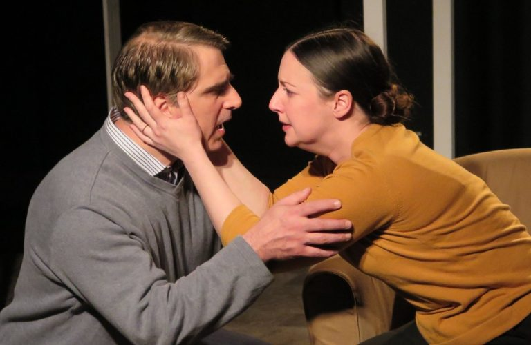 Anthony Marsala and Colleen Corcoran as husband and wife in Underbite Theatre Company's