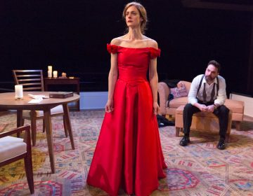Katharine Powell as Nora and Cody Nickell as Torvald in Arden Theatre Company's production of