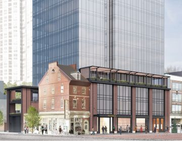 702 Sansom rendering of Toll Bros. project (courtesy of Toll Brothers City Living)