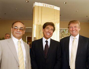 Kansas billionaire businessman Phil Ruffin, left, poses with Las Vegas developer Steve Wynn, and Donald Trump, right, Tuesday, July 12, 2005 in Las Vegas.