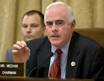FILE - In this March 20, 2013, file photo, Rep. Patrick Meehan, R-Pa. speaks on Capitol Hill in Washington.