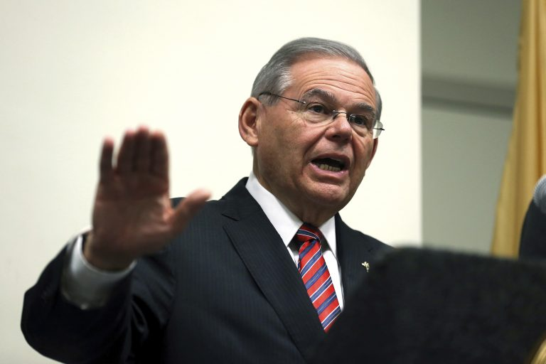 U.S. Sen. Bob Menendez of New Jersey wants the state to be exempted from a Trump administration plan for expanded offshore oil and gas drilling. (AP Photo/Mel Evans)