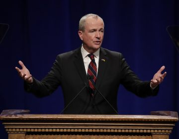 Phil Murphy gives his address after being sworn in as governor of New Jersey during his inauguration, Tuesday, Jan. 16, 2018, in Trenton, N.J.