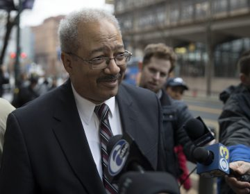 Former Rep. Chaka Fattah, D-Pa., walks from the federal courthouse after his sentencing hearing in Philadelphia, Monday, Dec. 12, 2016.  (Matt Rourke/AP Photo)