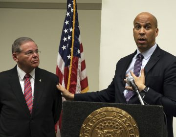 Sen. Bob Menendez, D-NJ, (left), and Sen. Cory Booker, D-NJ (Mel Evans/AP Photo, file)