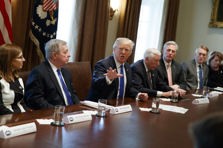 President Donald Trump Speaks During A Meeting With Lawmakers On  Immigration Policy In The Cabinet Room