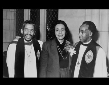 The Rev. Canon Lloyd Casson with Coretta Scott King and Bishop Walker. (Courtesy Rev. Casson)