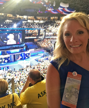 Gretchen Wisehart attends the 2016 Democratic National Convention in Philadelphia.