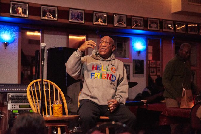 Bill Cosby performing at the LaRosa Jazz Club Monday night in Germantown