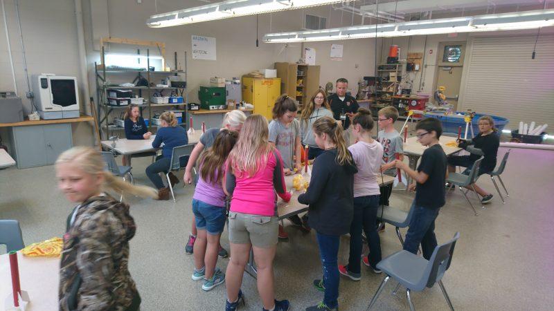 Nick Krasa teaches Corry students in the hydroponic gardening classroom (Kevin McCorry/Keystone Crossroads)