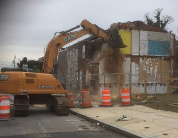 Two vacant homes were torn down to make way for new affordable housing. (WHYY/Zoe Read)