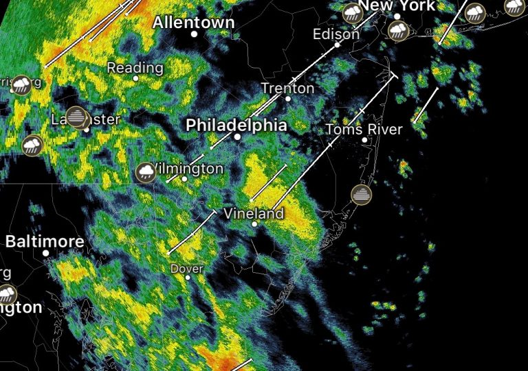 Radar image at 7:25 a.m. Tuesday.