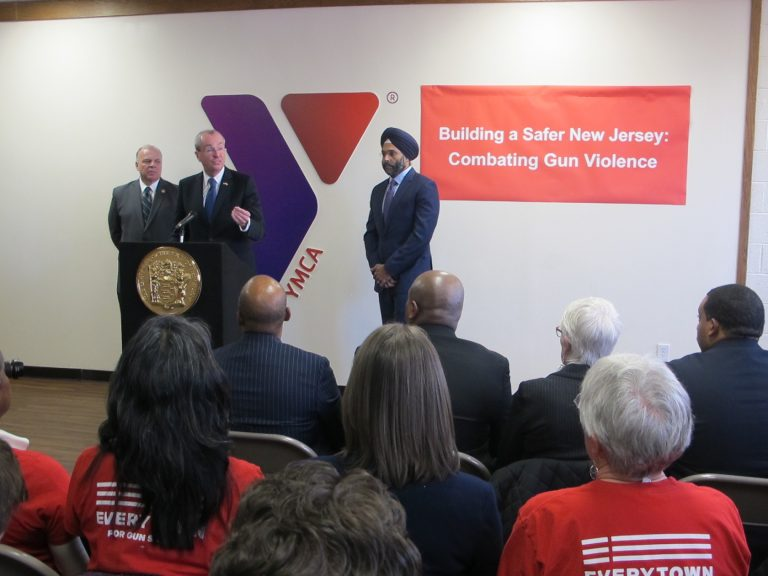 At the Trenton YMCA, Governor Murphy announces plans to reverse Christie concealed handgun carry rules  (Phil Gregory/WHYY)