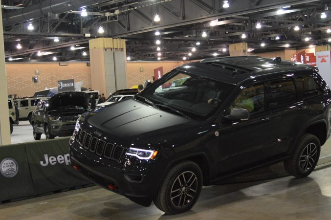 A new Jeep at the 2018 Philadelphia International Auto Show (Tom MacDonald/WHYY)
