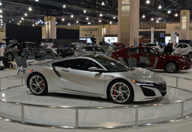 Cars on display at the 2018 Philadelphia International Auto Show (Tom MacDonald/WHYY)