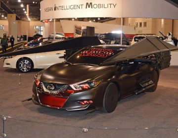 Nissan's Star Wars car at the 2018 Philadelphia International Auto Show (Tom MacDonald/WHYY)