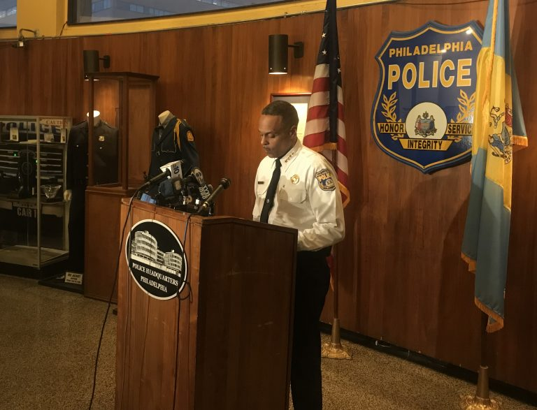 Philadelphia Police Commissioner Richard Ross speaks at a press conference on January 29, 2018.