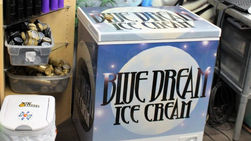 A freezer for THC infused ice cream. (Bill Barlow/for WHYY)