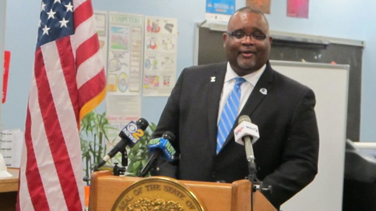 Lamont Repollet is nominated to be New Jersey's next education commissioner. (Phil Gregory/WHYY)
