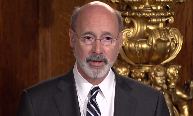 Gov. Tom Wolf announcing his declaration of a 'State of Emergency' to deal with the opioid epidemic